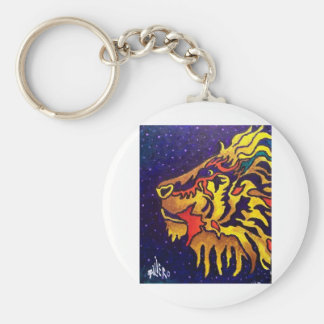 The Lion by Piliero Basic Round Button Keychain