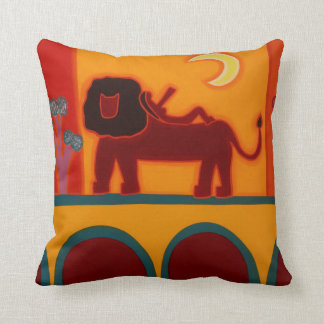 The Lion From Fulham Broadway 2008 Throw Pillow
