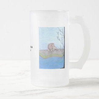 The Lion Frosted Glass Beer Mug