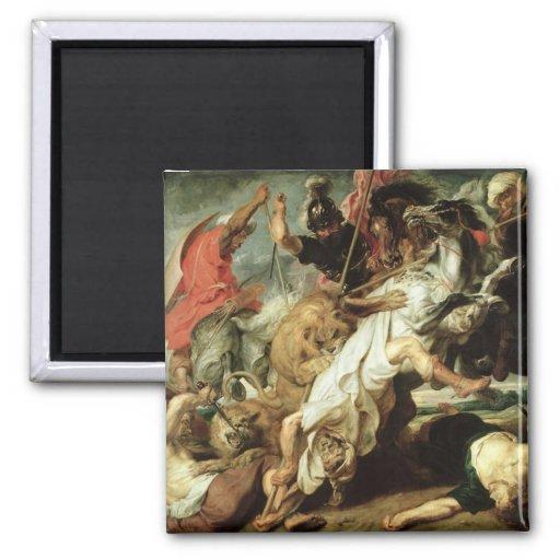 The Lion Hunt, 1621 Magnet