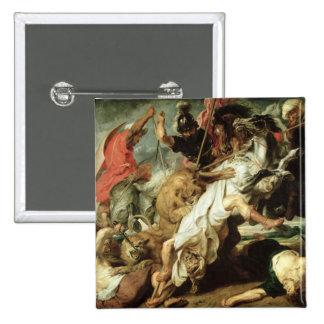The Lion Hunt, 1621 Pinback Button