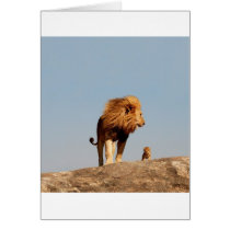 The Lion King ( Adult Lion and Cub) Card
