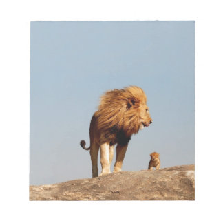 The Lion King ( Adult Lion and Cub) Note Pad