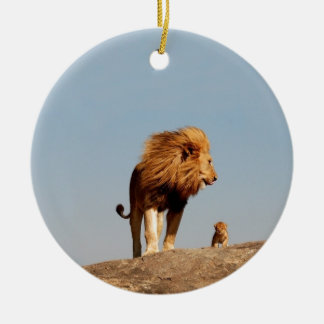 The Lion King ( Adult Lion and Cub) Christmas Tree Ornament