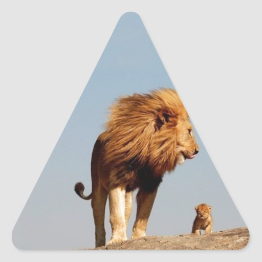 The Lion King ( Adult Lion and Cub) Triangle Stickers