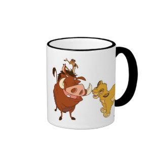 The Lion King Simba and Timon Disney Ringer Mug