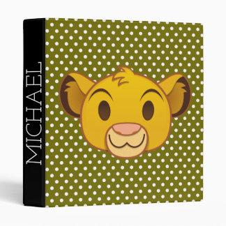 The Lion King | Simba Emoji 3 Ring Binder