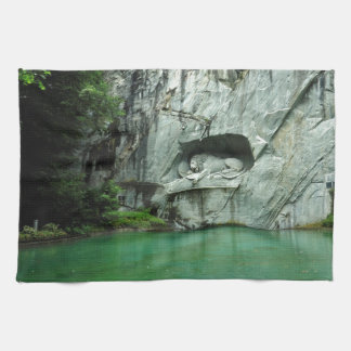 The Lion Monument in Lucerne Kitchen Towel