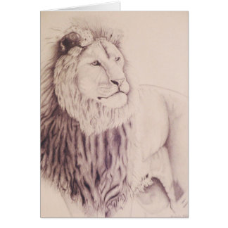 The Lion of Judah - pencil on paper 1990 Var 3 Cards