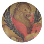 The Lion of St. Mark (oil on panel) Dinner Plate