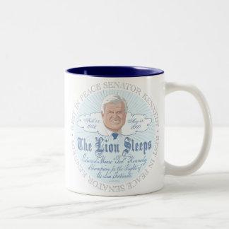 The Lion of the Senate Sleeps RIP Ted Kennedy Two-Tone Coffee Mug