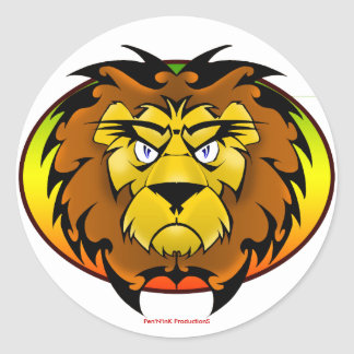 The Lion of Zion Classic Round Sticker