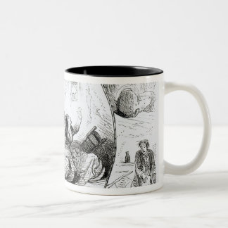 The Lion out of Humour Two-Tone Coffee Mug