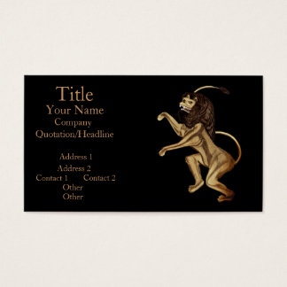 The Lion Rampant Business Card