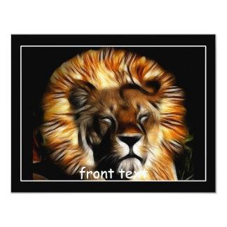 """The Lion Sleeps 4.25"""" X 5.5"""" Invitation Card"""