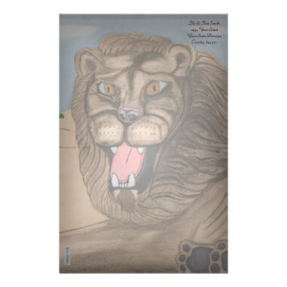 The Lion Customized Stationery