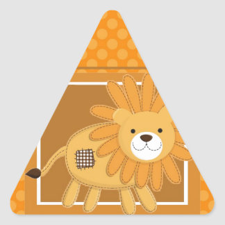 the lion triangle stickers