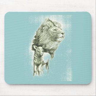 THE LION & THE LAMB MOUSE PAD