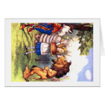 THE LION & THE UNICORN; CAKE WILL MAKE IT BETTER! GREETING CARD