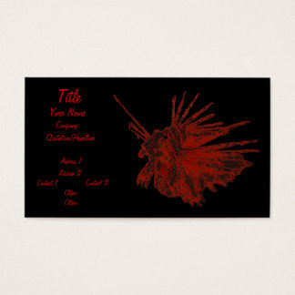 The Lionfish 2 Business Card