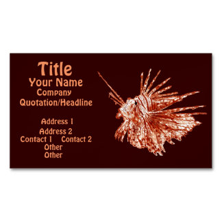 The Lionfish 2 Magnetic Business Card