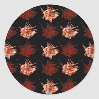 The Lionfish (both colours) Round Stickers