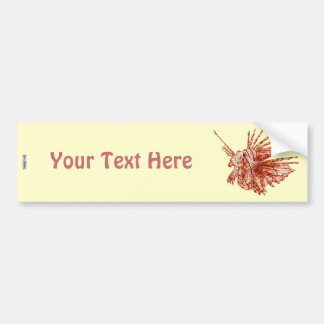 The Lionfish Bumper Sticker