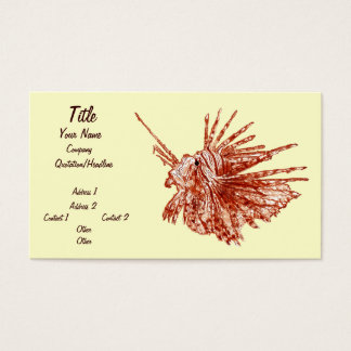 The Lionfish Business Card