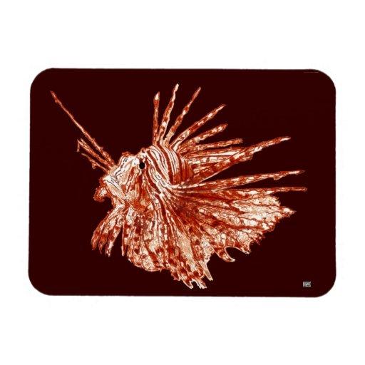The Lionfish Rectangular Magnets