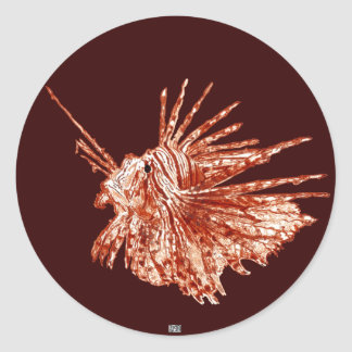 The Lionfish Round Stickers