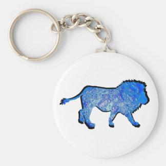 THE LIONS PRIDE BASIC ROUND BUTTON KEYCHAIN