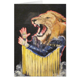 The lions share is always fair!! greeting card