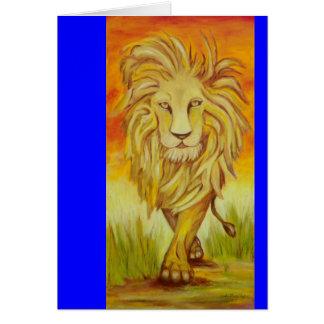 The Lions Strut Card