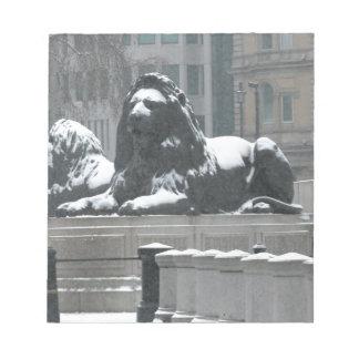 The Lions-Trafalgar Square London Memo Notepad