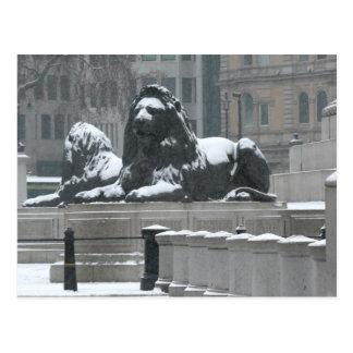 The Lions-Trafalgar Square London Postcard