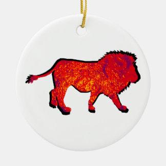 THE LIONS WALK CERAMIC ORNAMENT