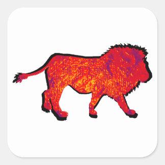 THE LIONS WALK SQUARE STICKER