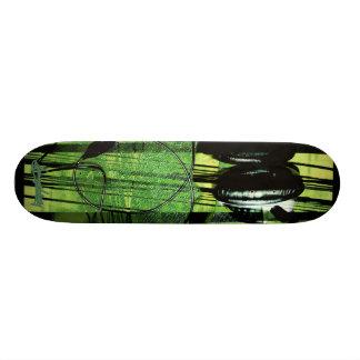 The Listening Fog-green Custom Skateboard
