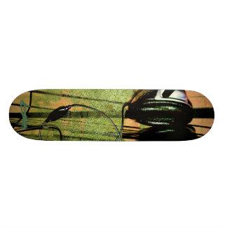 The Listening Fog-orange Skateboard Deck