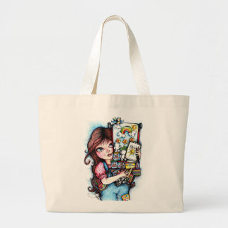 The Little Artist Large Tote Bag