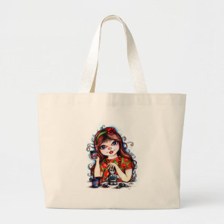 The Little Artist Making Clay Robot Tote Bag