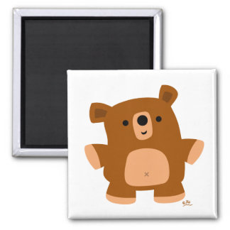 The little bear 2 inch square magnet