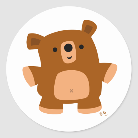 The little bear classic round sticker