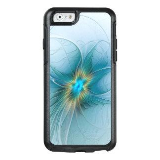 The little Beauty Modern Blue Gold Fractal Flower OtterBox iPhone 6/6s Case