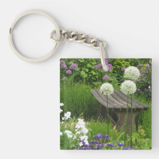 The Little Bench - Acrylic Square Key Ring Single-Sided Square Acrylic Keychain