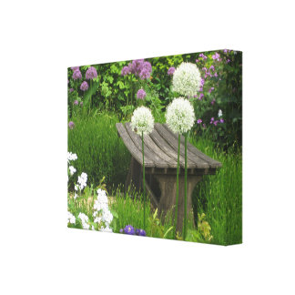 The Little Bench - Premium Gloss Wrapped Canvas