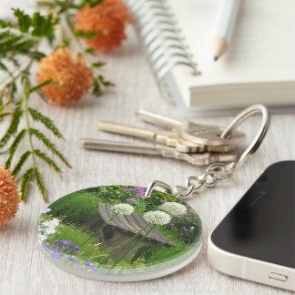 The Little Bench - Round Acrylic Key Ring Single-Sided Round Acrylic Keychain