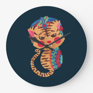 The Little Bengal Tiger Large Clock
