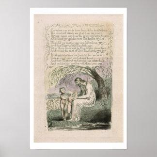 'The Little Black Boy', plate 6 from 'Songs of Inn Poster