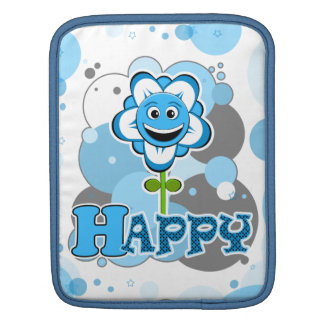 The Little Bloomers - Happy Howie - Blue Flower Sleeves For iPads